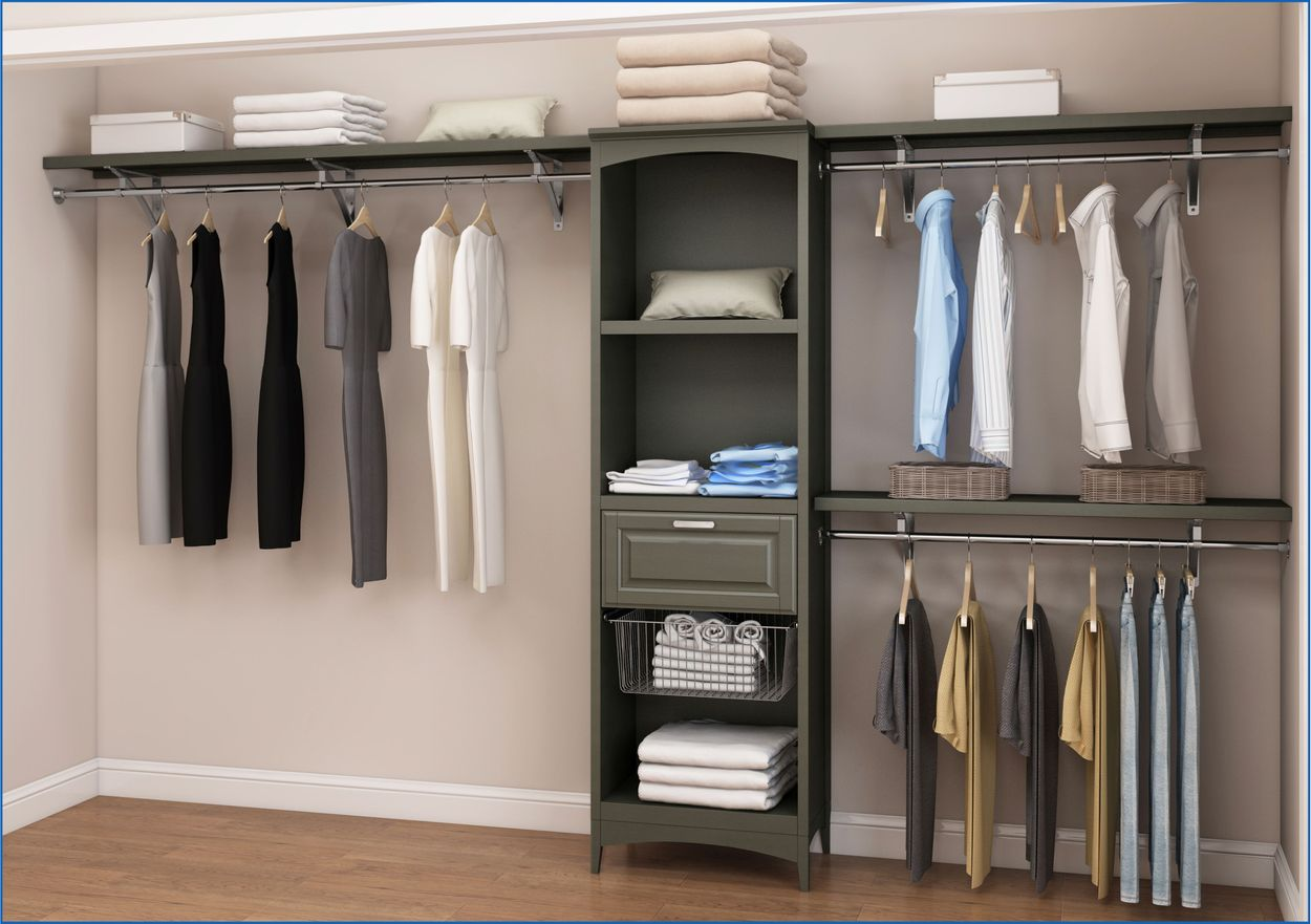 Picture of: Allen And Roth Closet Systems Image Of Bathroom And Closet