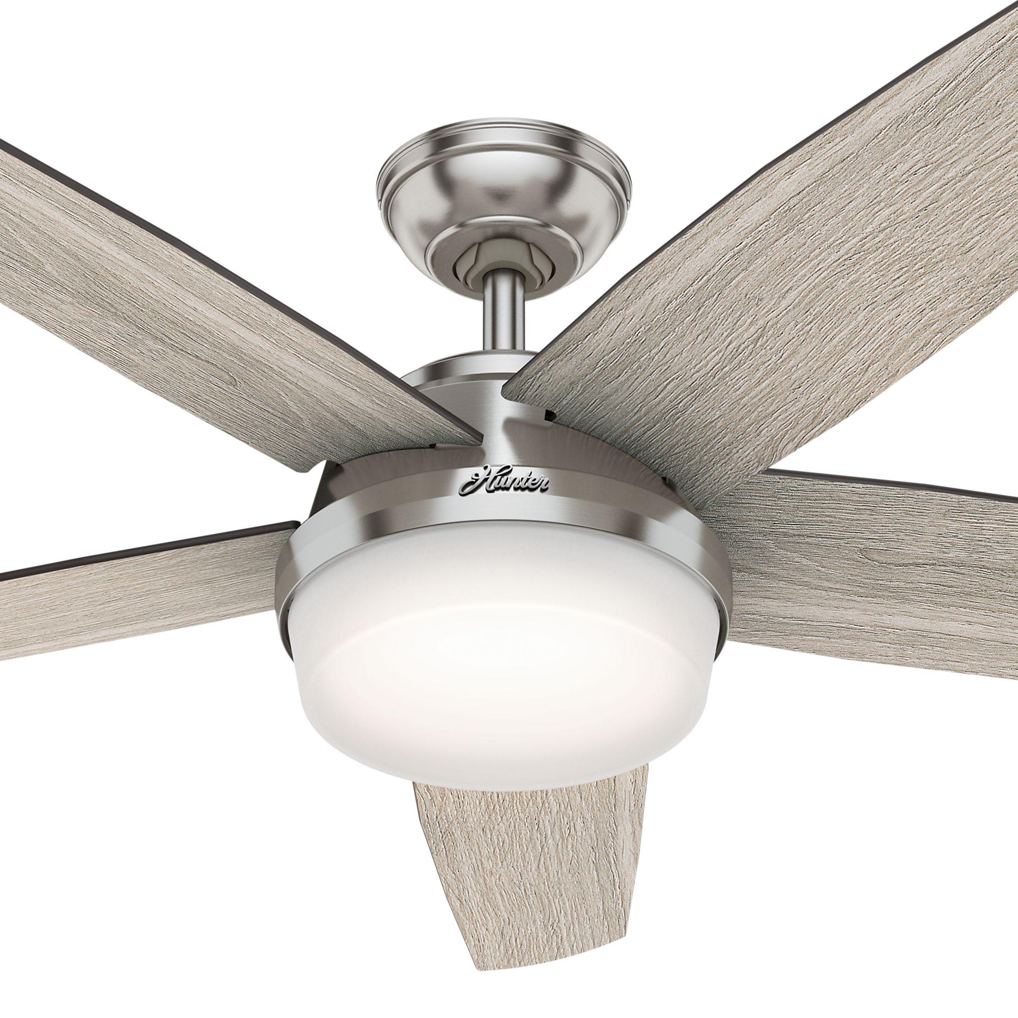 Hunter Led 52 Quot Avia Ii Ceiling Fan Reversible Blades Oak