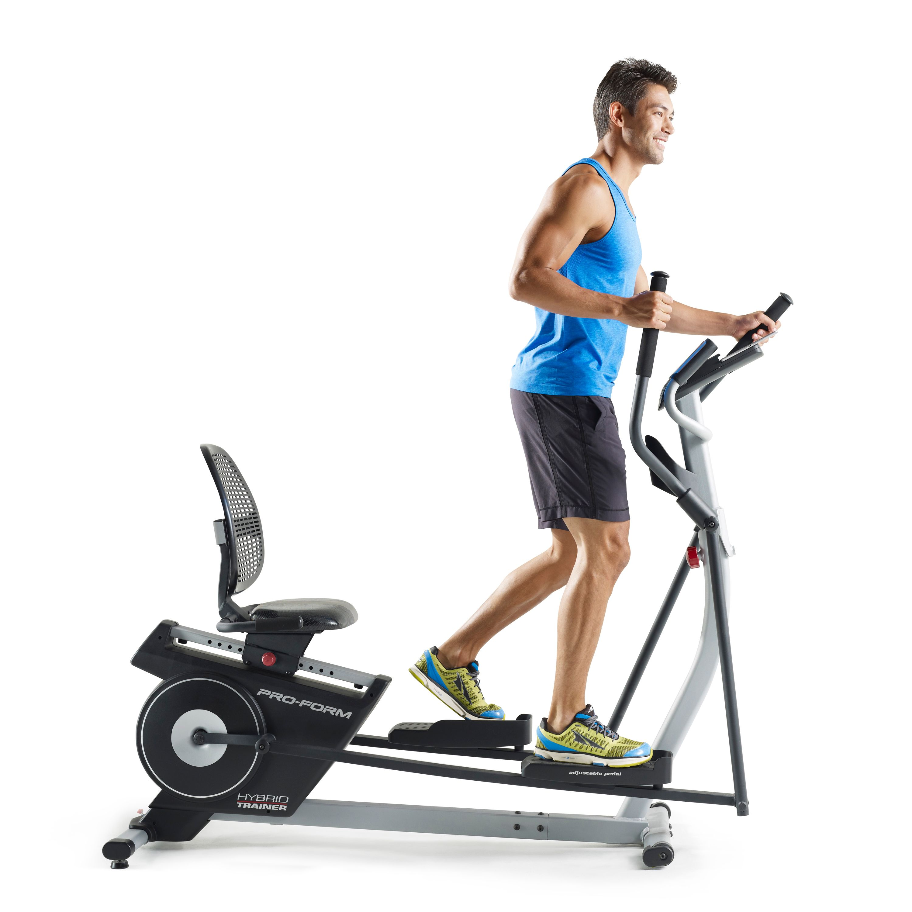 When You Want To Up Your Workout Simply Stand From The Seated Position Transition Hybrid Trainer S Elliptical Machine