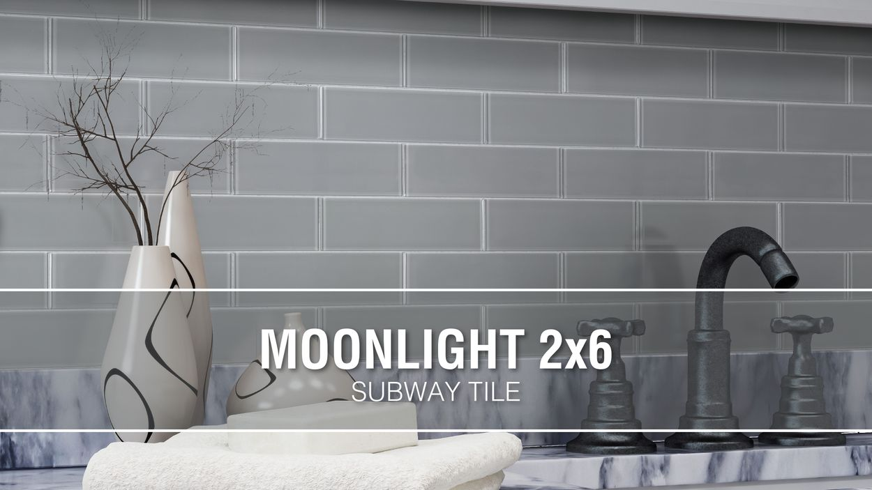 - Elida Ceramica Moonlight Subway 12-in X 12-in Glossy Glass Mosaic