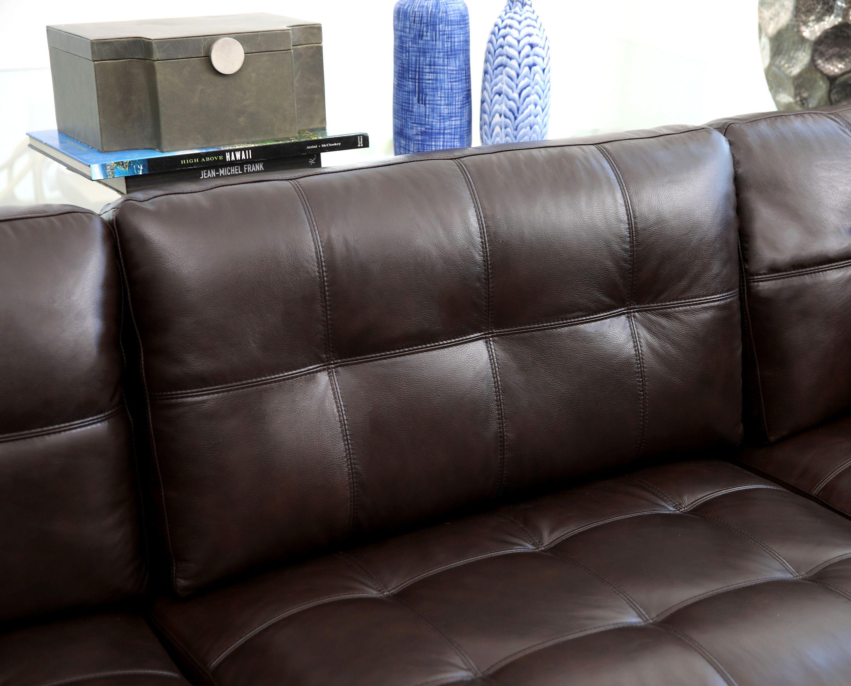 6333fa66c5 Calvin 5-piece Top Grain Leather Modular Sectional