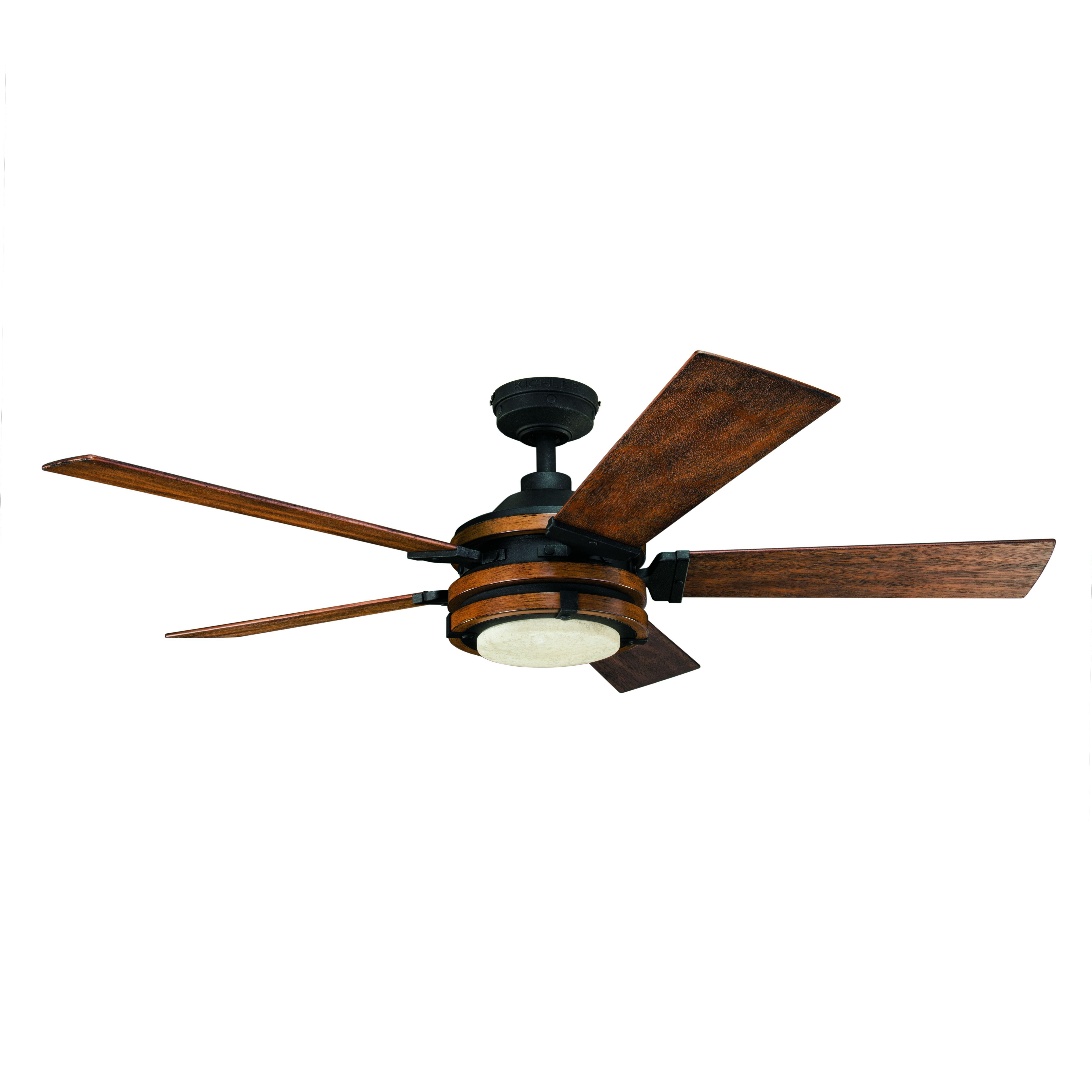 Distressed Black Led Indoor Ceiling Fan