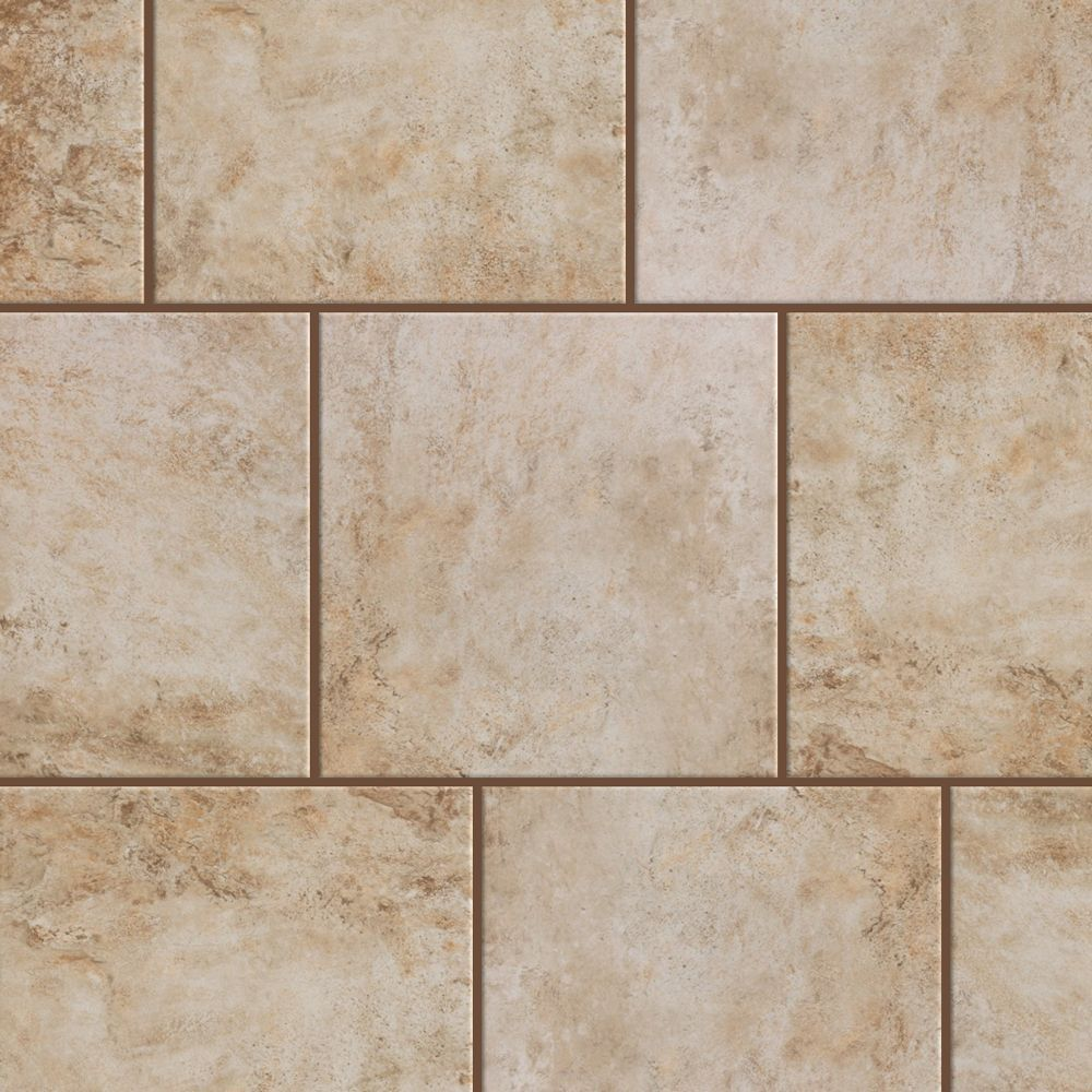 Style Selections Mesa Beige 8-in x 8-in Glazed Porcelain Tile
