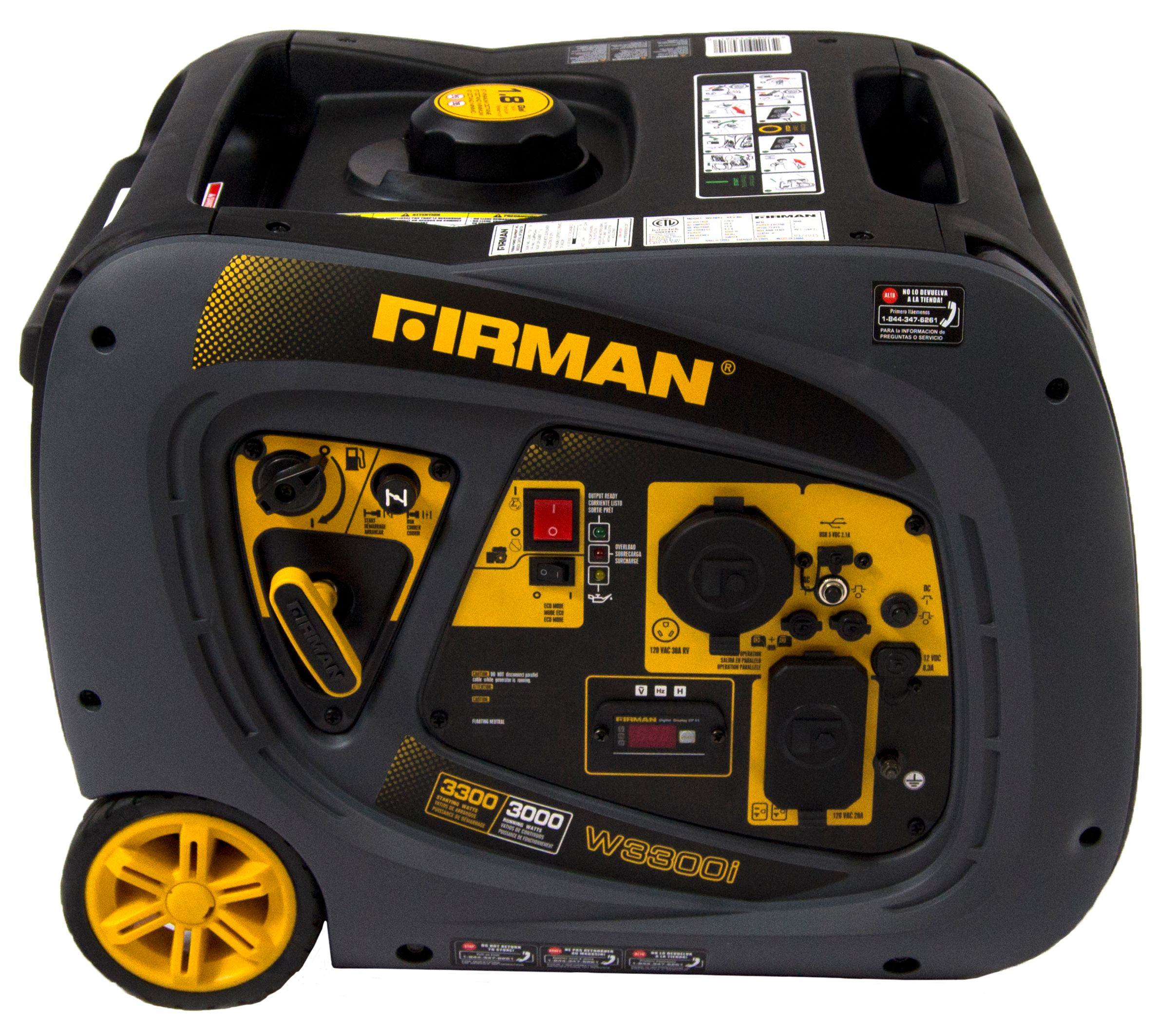 Firman W03081 3,300 W Gasoline Powered Inverter Generator