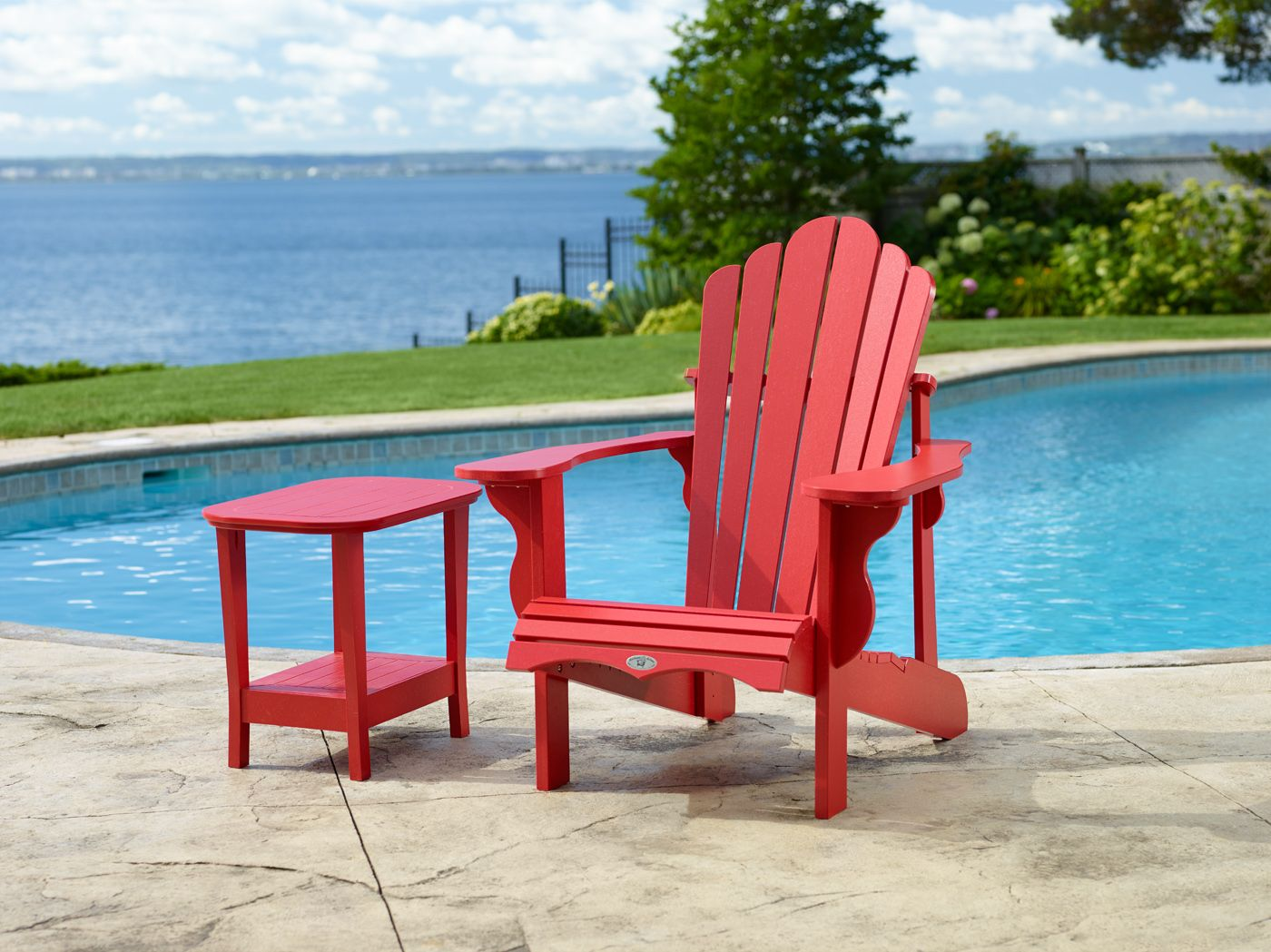 Canadian made from the highest quality recycled plastic the Adirondack chair matching footstool and side table are not only attractive and comfortable ... & Classic Adirondack Collection