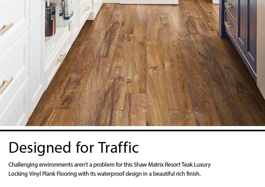 Shaw Sample Resort Teak Vinyl Plank In