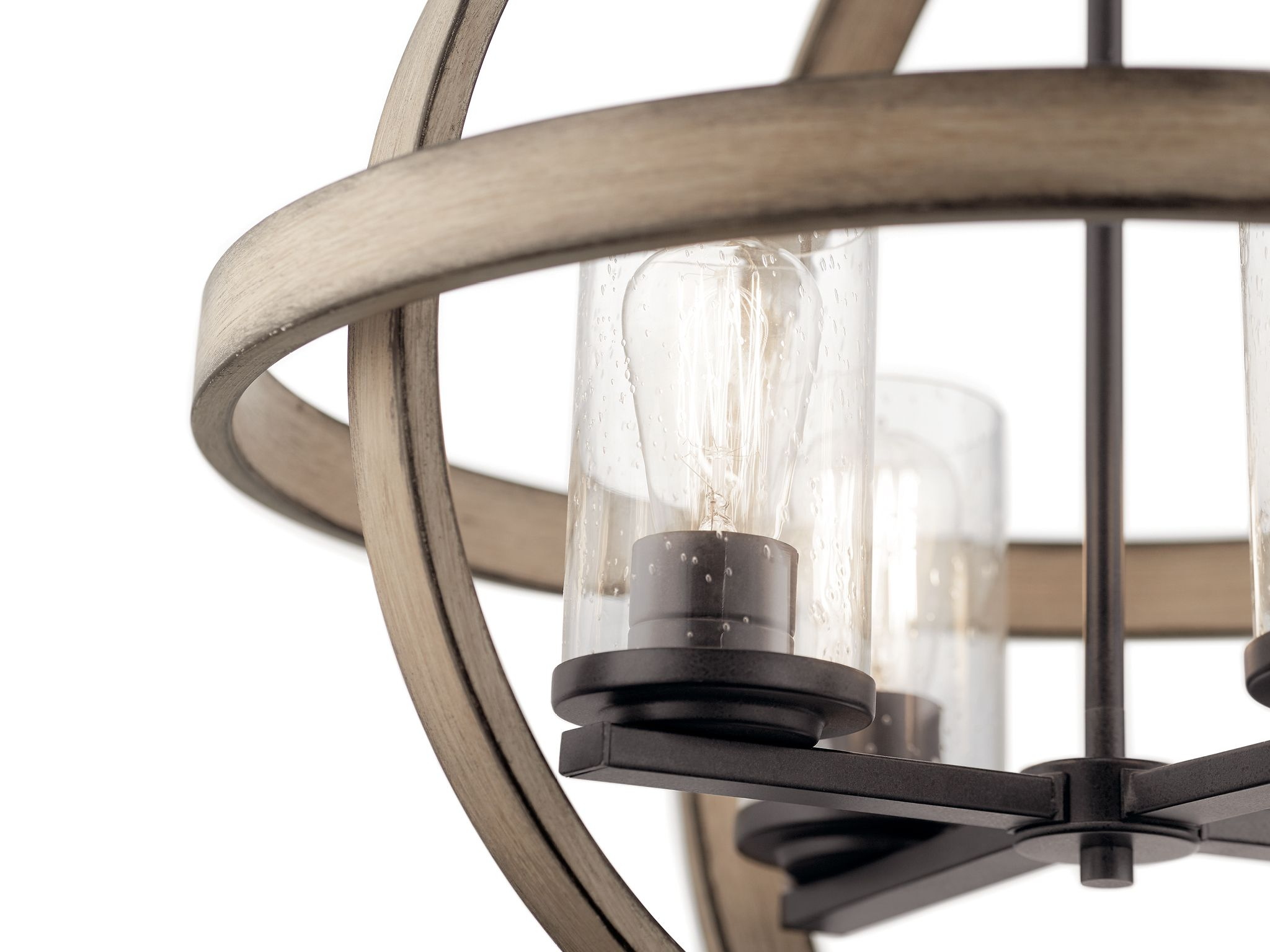 Kichler Barrington Mini Rustic Seeded Glass Cylinder Pendant Light