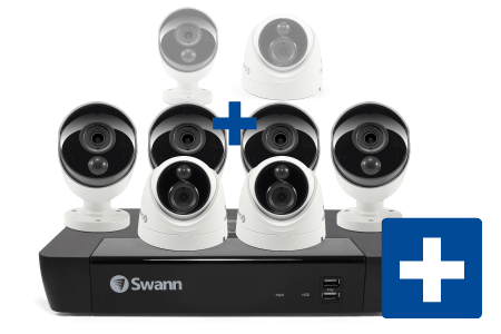 Swann 8-Channel 4K DVR, 4 Bullet and 2 Dome Cameras Security System