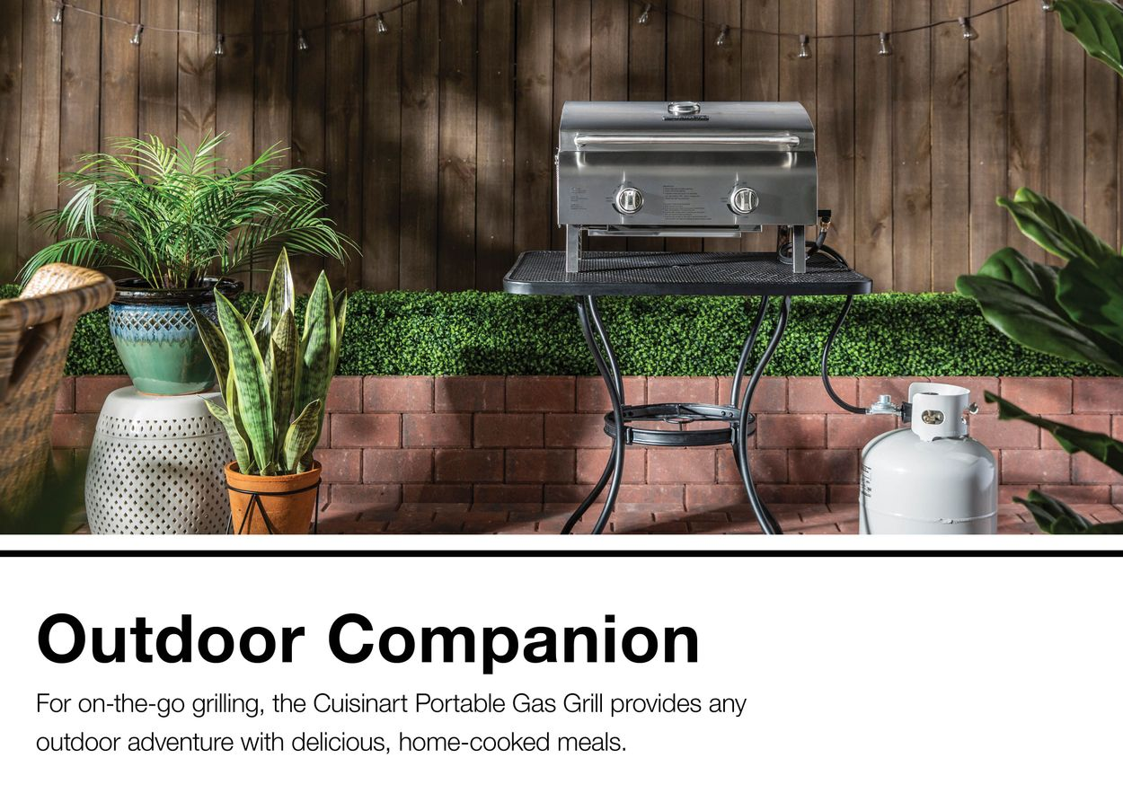 Cuisinart 20 000 Btu 276 Sq In Portable Gas Grill In The Portable Gas Grills Department At Lowes Com