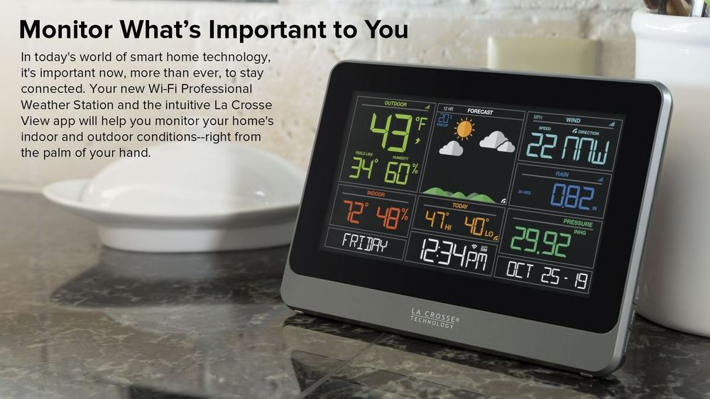 Motor Problems In Infancy May Forecast >> La Crosse 5 In 1 Professional Wireless Weather Station