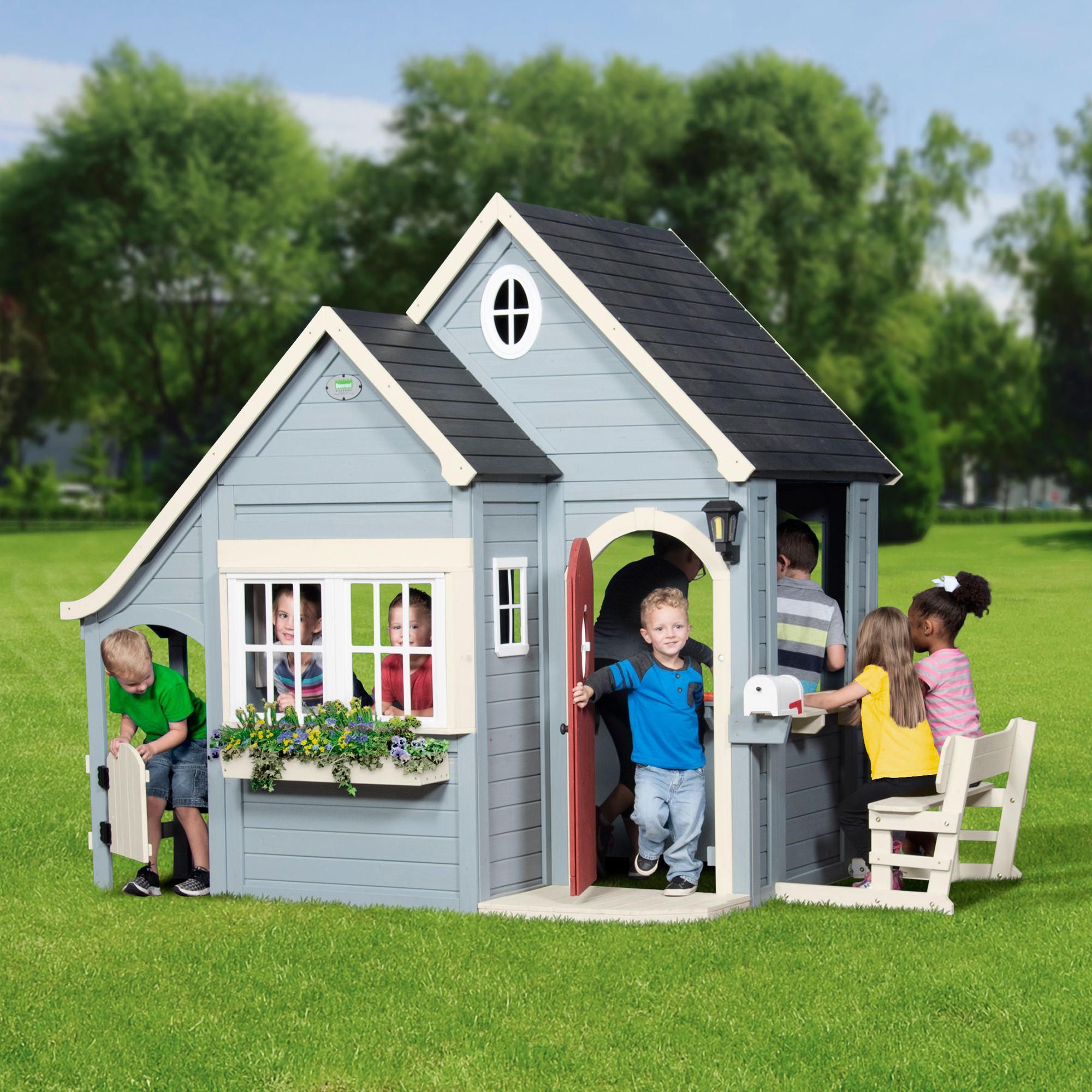 backyard discovery spring cottage cedar playhouse rh costco com backyard discovery my cedar playhouse big backyard forestview cedar playhouse