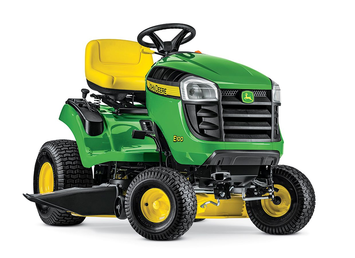 John Deere E100 17 5-HP Automatic 42-in Riding Lawn Mower with