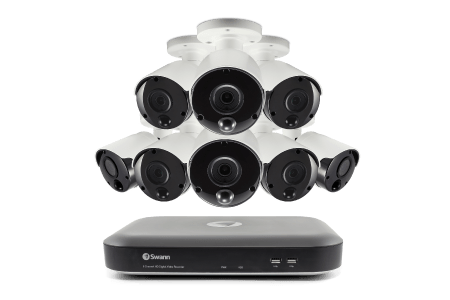 Swann SWDVK-849808-US 8-Channel 4980 Series 5 0-Megapixel DVR With 2TB HD &  8 PIR Bullet Cameras