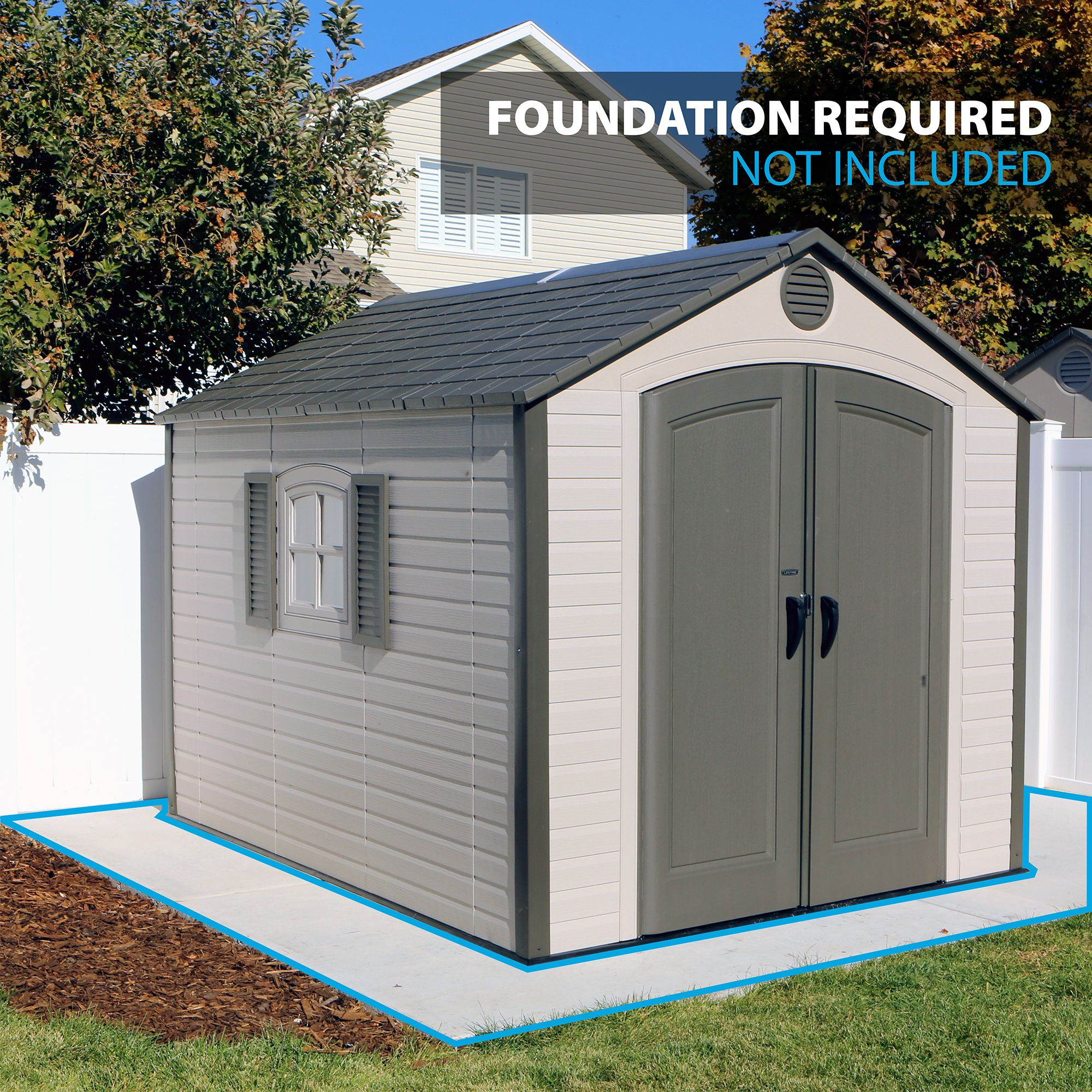 Details about Lifetime 8' x 10' Storage Shed Garden Backyard Toolshed House  lawn waterproof