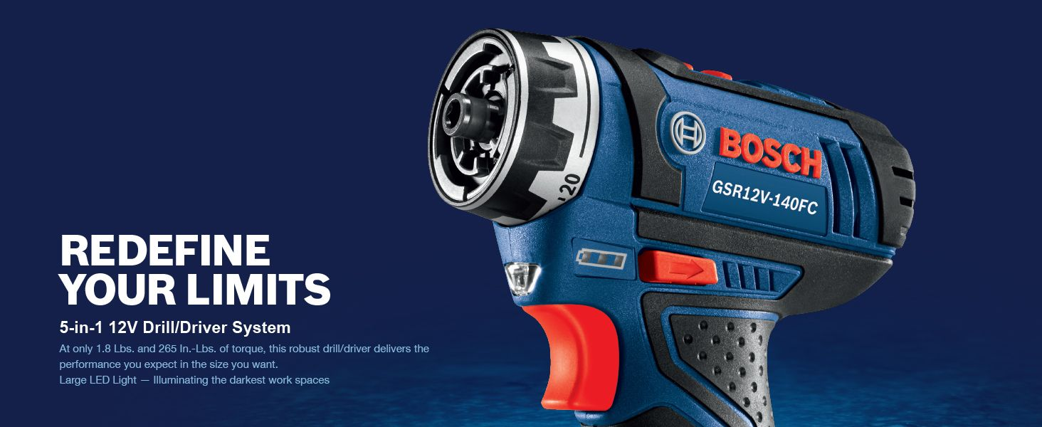 Bosch Flexiclick 12-Volt 1/4-in Cordless Drill (Charger