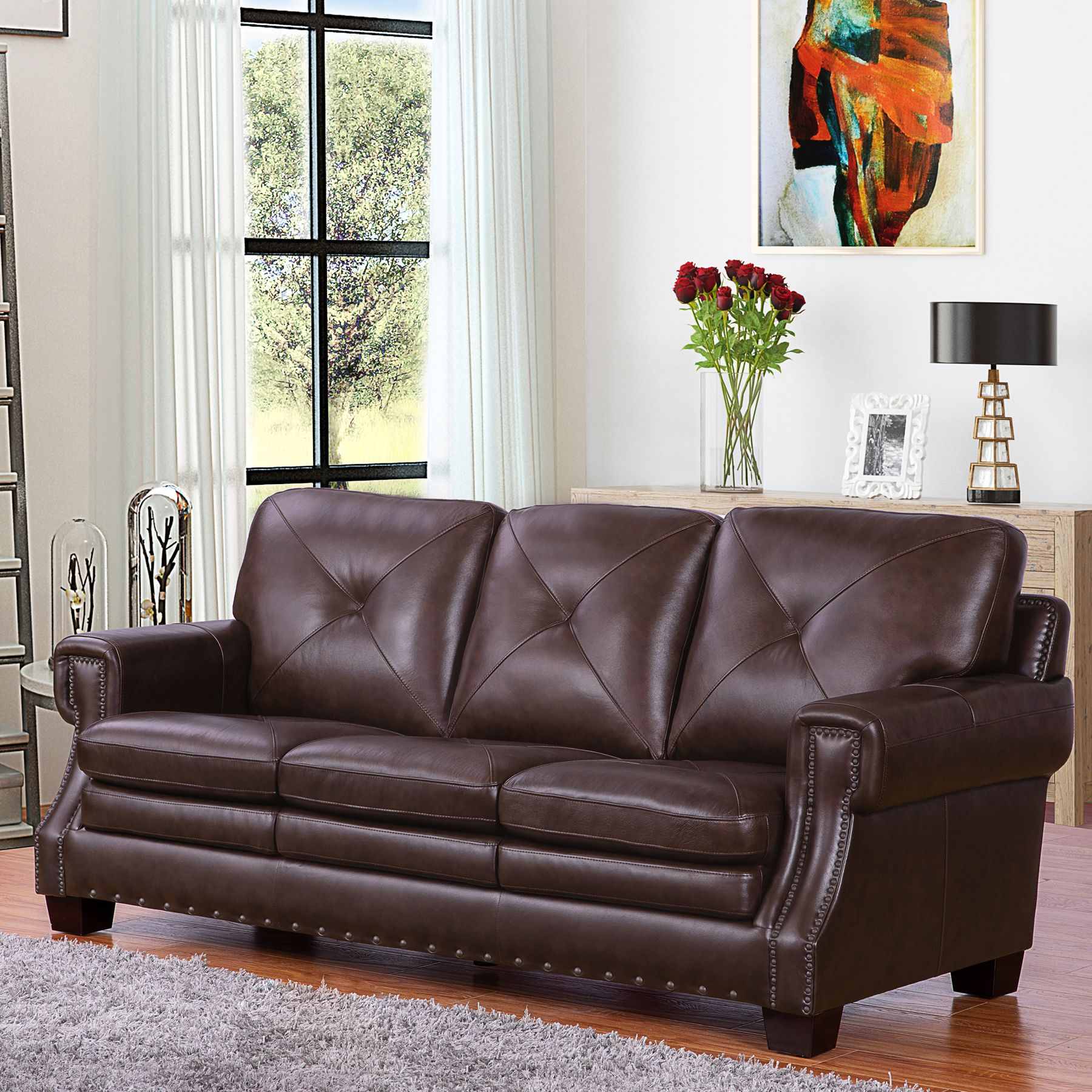 Stanley Top Grain Leather Sofa