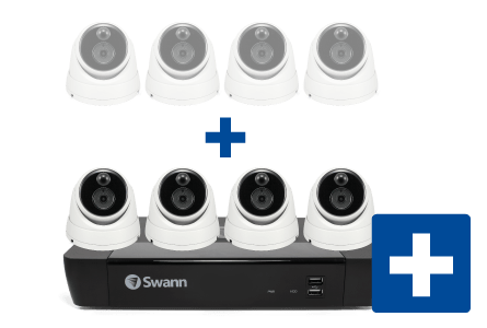 Swann 8-Channel 4-Camera 5MP Security System with 2TB HDD NVR