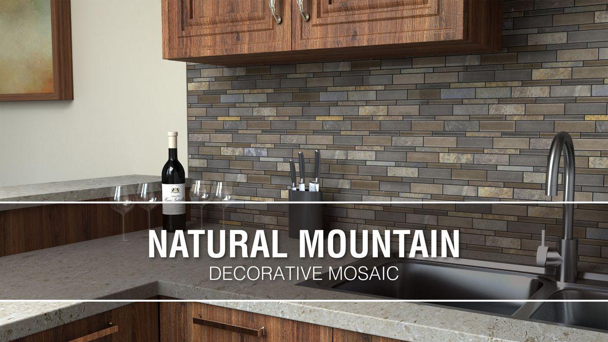 - Elida Ceramica Natural Mountain 12-in X 12-in Crackled Ceramic And