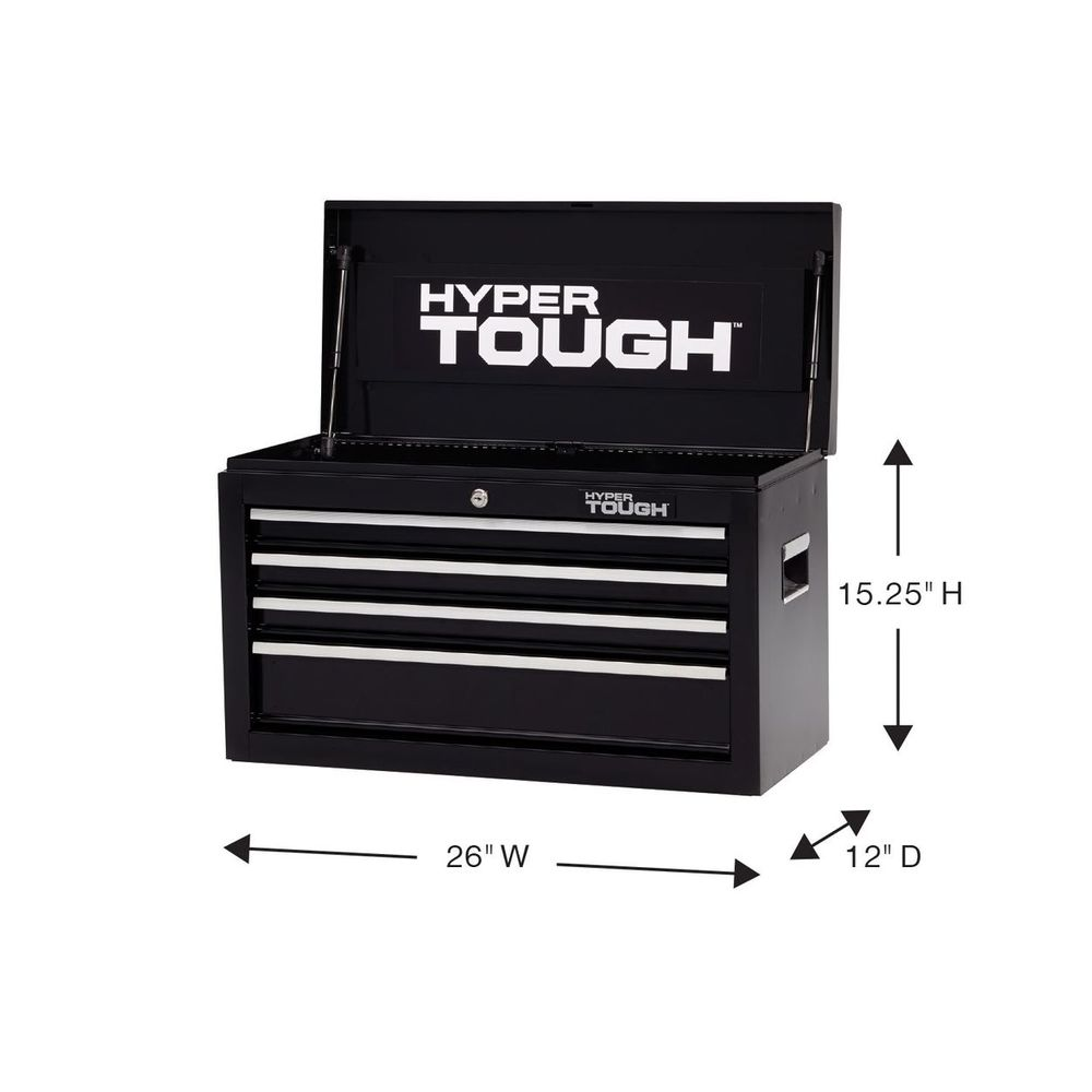 Details About Portable 4 Drawer Tool Chest Steel Ball Bearings Mechanics Garage Toolbox Black