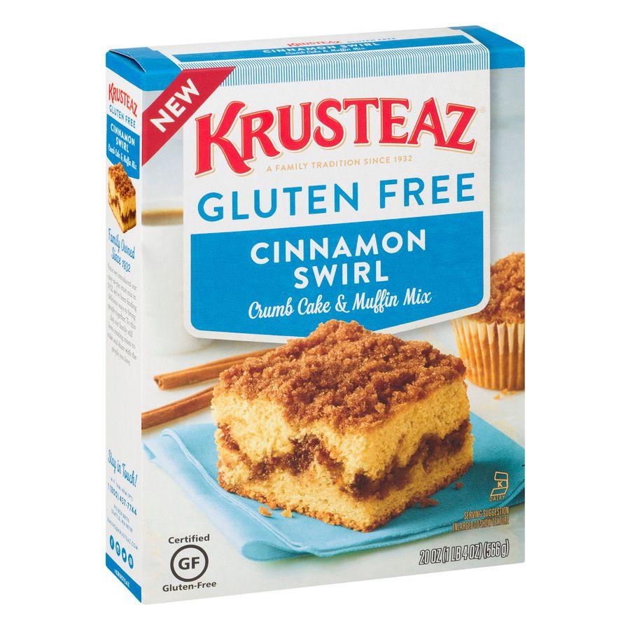 Krusteaz Gluten Free Crumb Cake Mix Cinnamon 20 Ounce