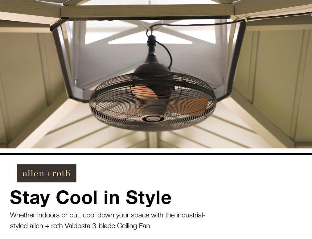 Valdosta 20-in Oil-Rubbed Bronze Indoor/Outdoor Ceiling Fan (3-Blade)