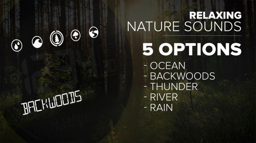 La Crosse Mood Light LCD Alarm Clock with Nature Sounds