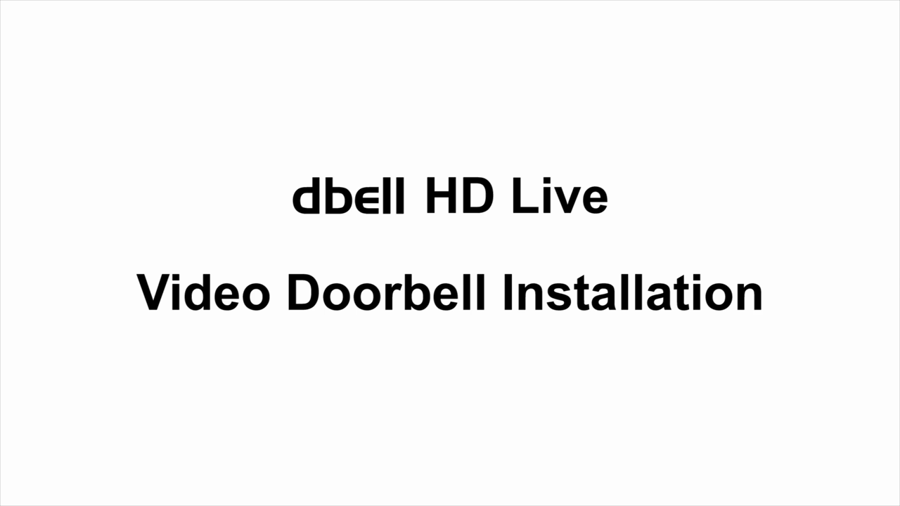 Dbell DB-HD-LIVE-B HD Live Video Doorbell (Black)