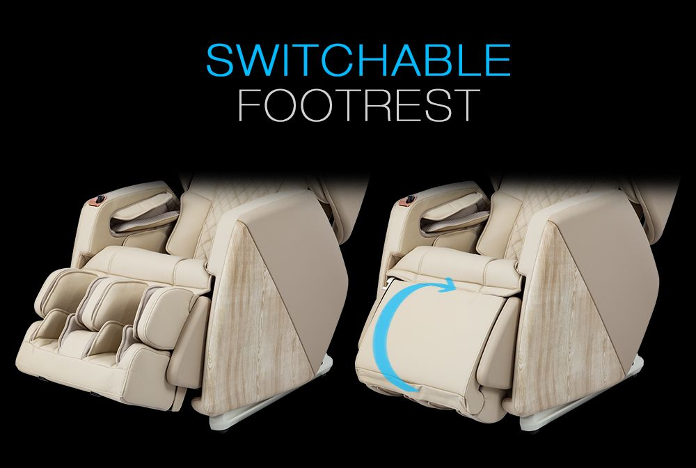 Switchable footrest