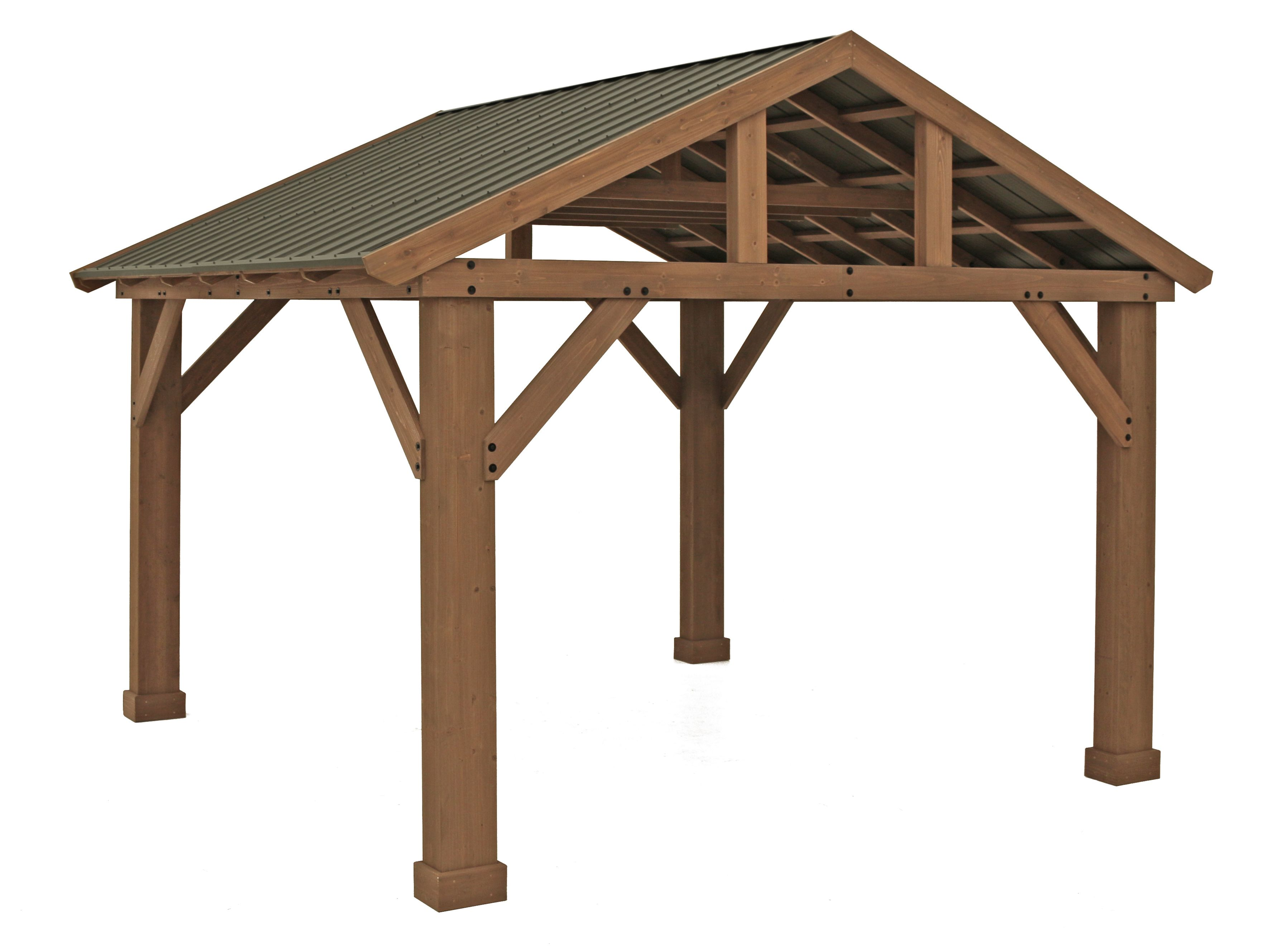 14' x 12' Cedar Pavilion with Aluminum Roof
