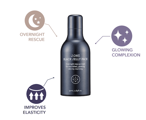 Overnight rescue, glowing complexion, improves elasticity
