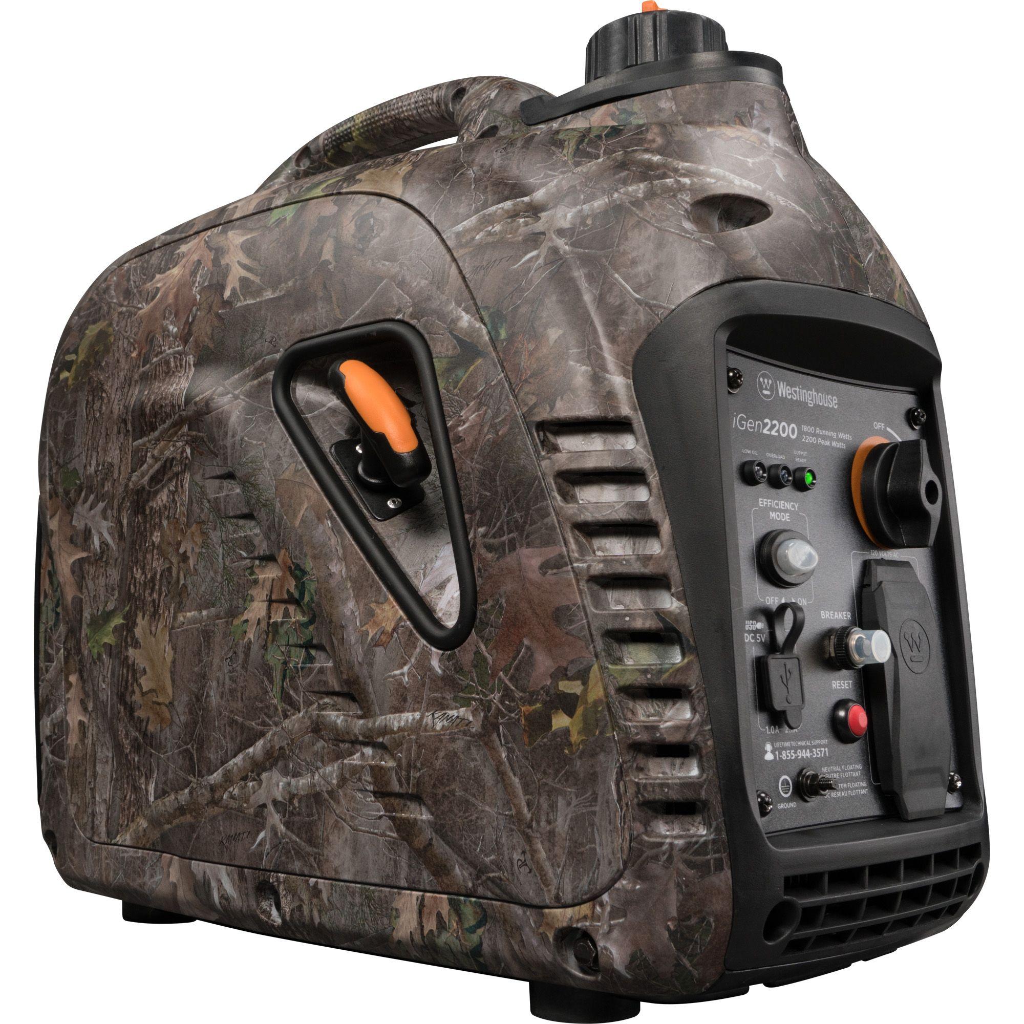 Westinghouse iGen2200 True Timber Camo Gas Powered Portable Inverter  Generator