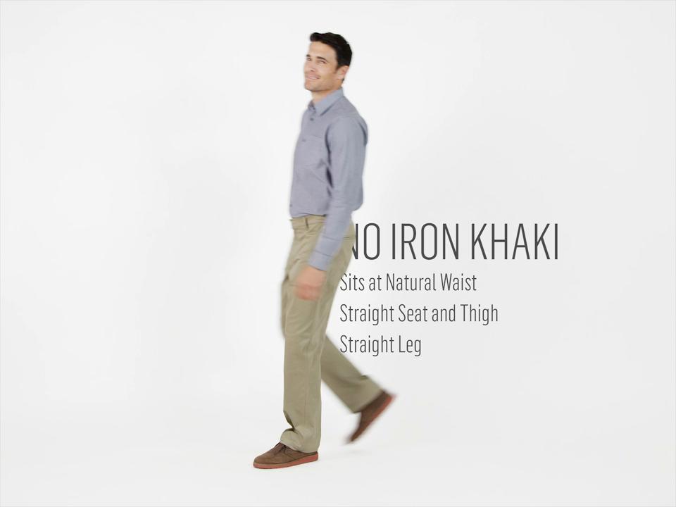 5b85f7311a3 Wrangler - Men s No Iron Flex Straight Fit Pant - Walmart.com