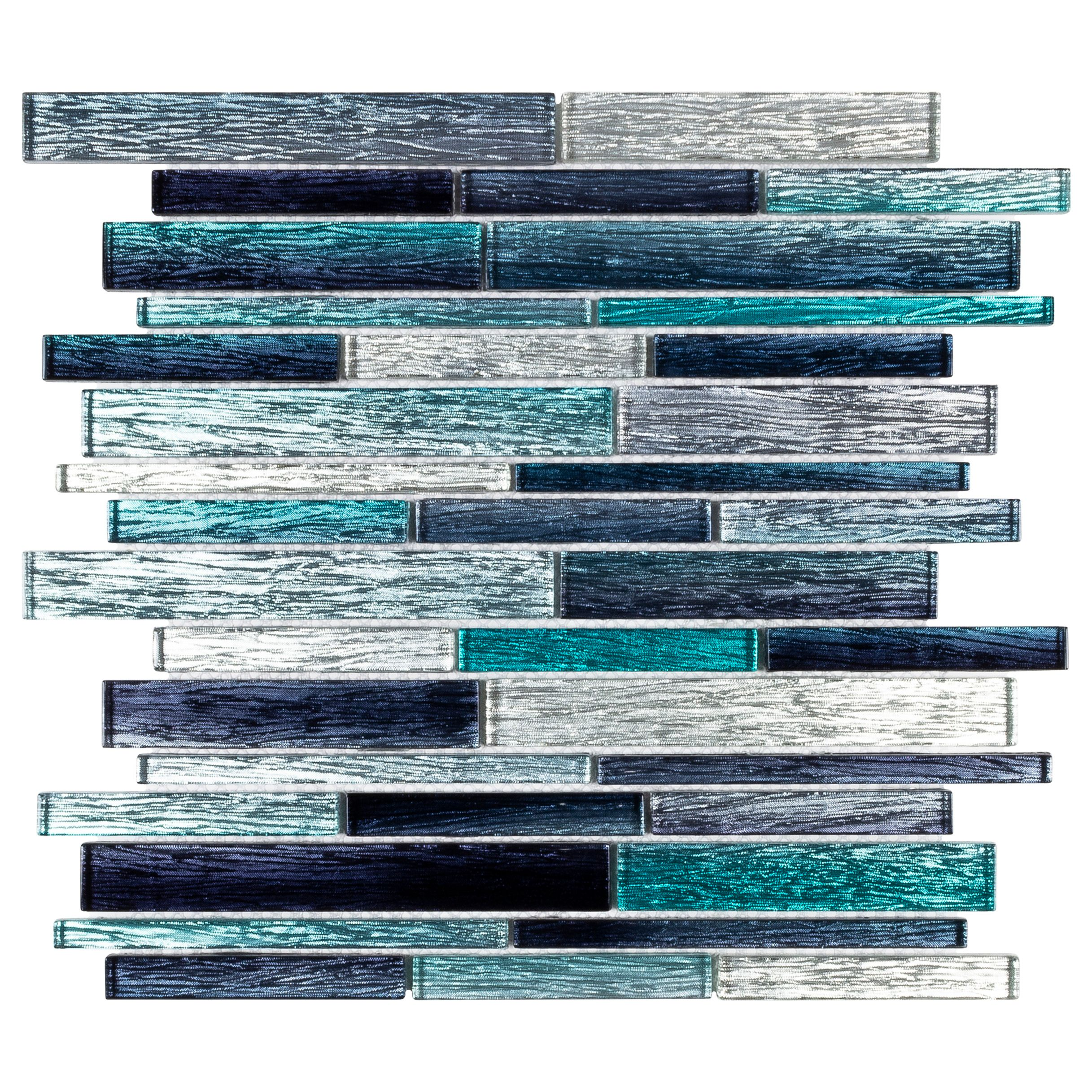 - Elida Ceramica Sparkle Ocean Blue 12-in X 13-in Glossy Glass