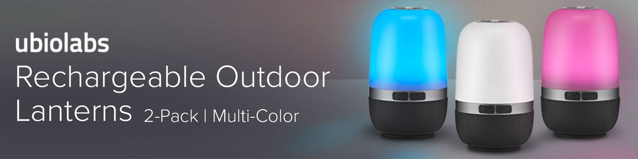 2-pack Ubio Labs Outdoor Waterproof Lantern