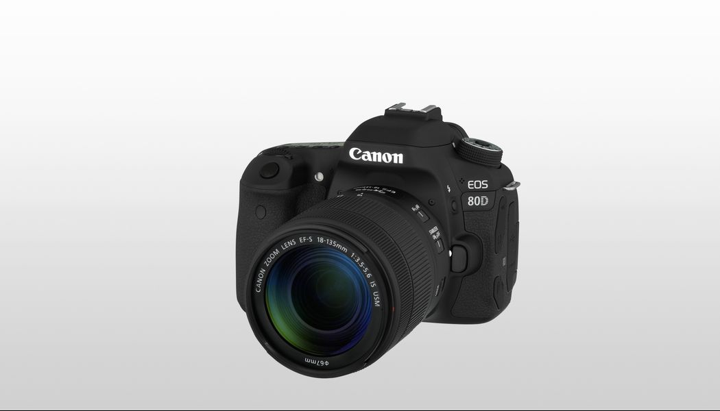 Canon EOS 80D Digital SLR Camera with EF-S 18-135mm f/3 5-5 6 IS USM Lens