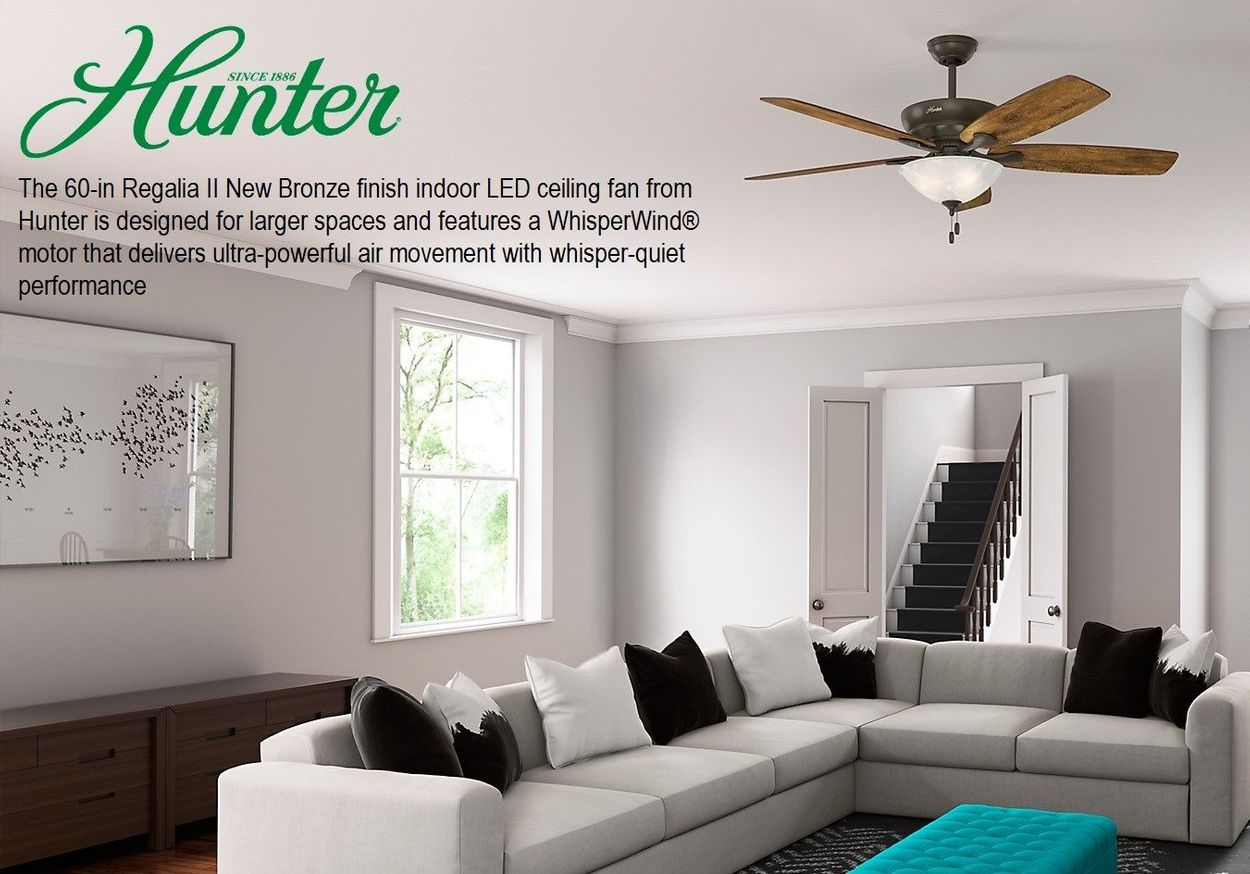 Regalia II 60-in Satin Bronze LED Indoor Ceiling Fan with Light Kit  (5-Blade)