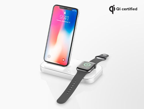 Ubio Labs Dual Wireless Charger Dock for iPhone and Apple Watch