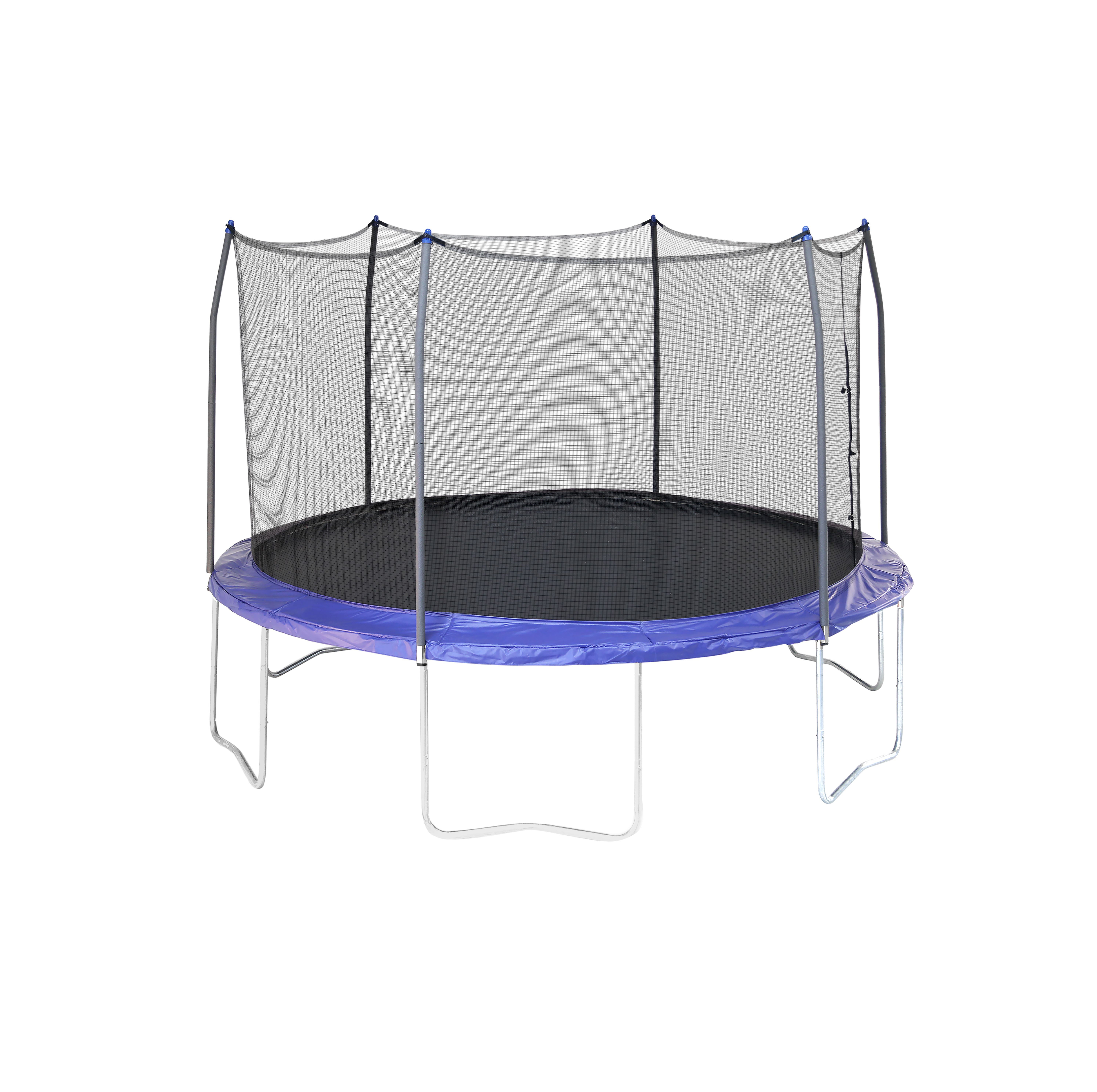 12u0027 Round Tr&oline with Enclosure  sc 1 st  Walmart & Skywalker Trampolines 12-Foot Trampoline with Safety Enclosure ...