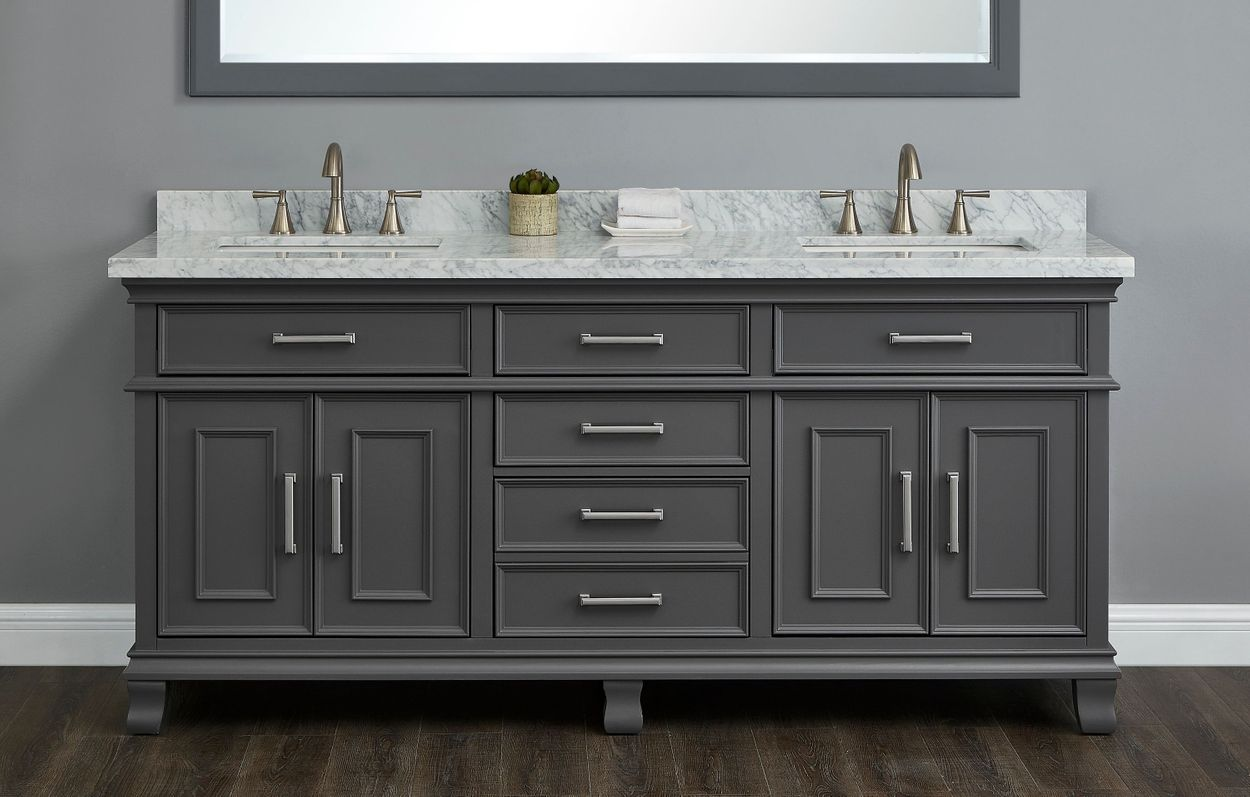 Double Sink Bath Vanity By Mission Hills