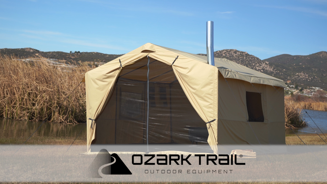 Awesome Ozark Trail North Fork 12 X 10 Wall Tent With Stove Jack Home Remodeling Inspirations Genioncuboardxyz