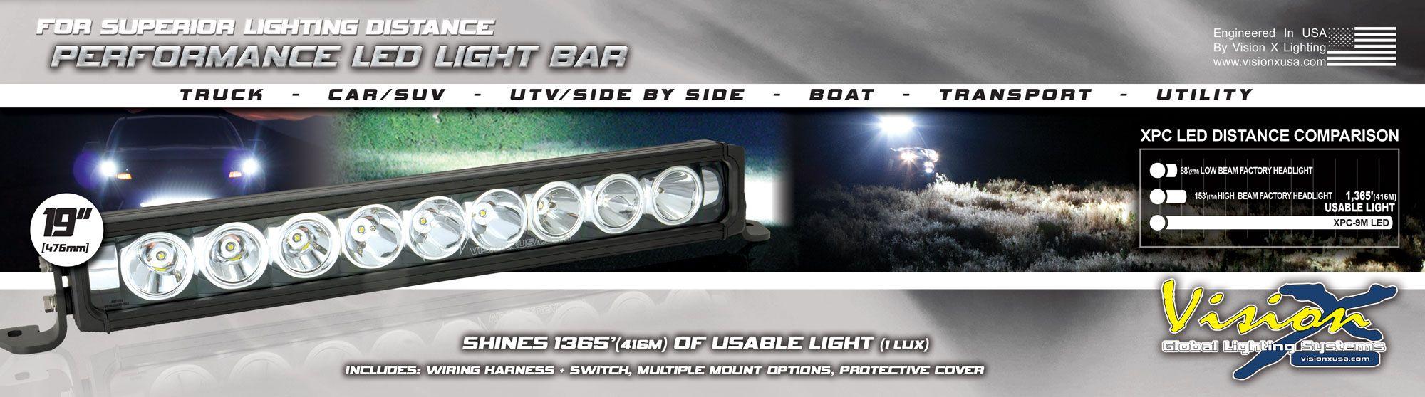 Wondrous Vision X Lighting 19 Led Light Bar Xpc 9M Wiring 101 Akebwellnesstrialsorg