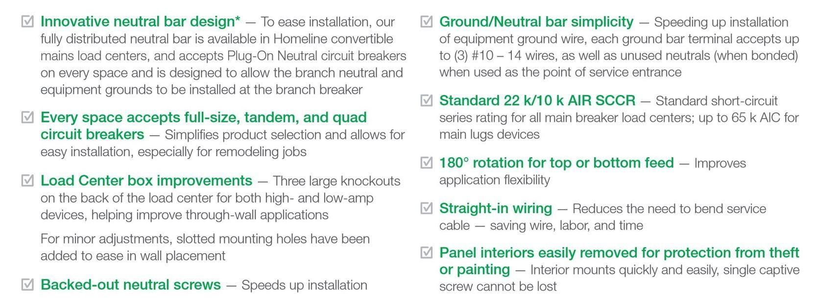 Square D Homeline 60-Circuit 150-Amp Main Breaker Plug-On