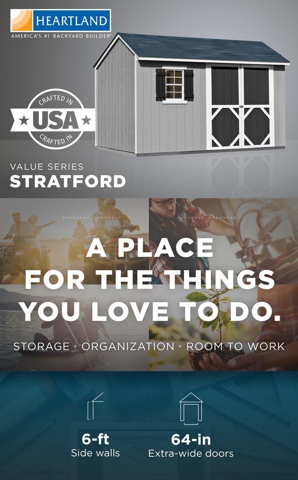 Heartland Stratford Saltbox Engineered Wood Storage Shed ...