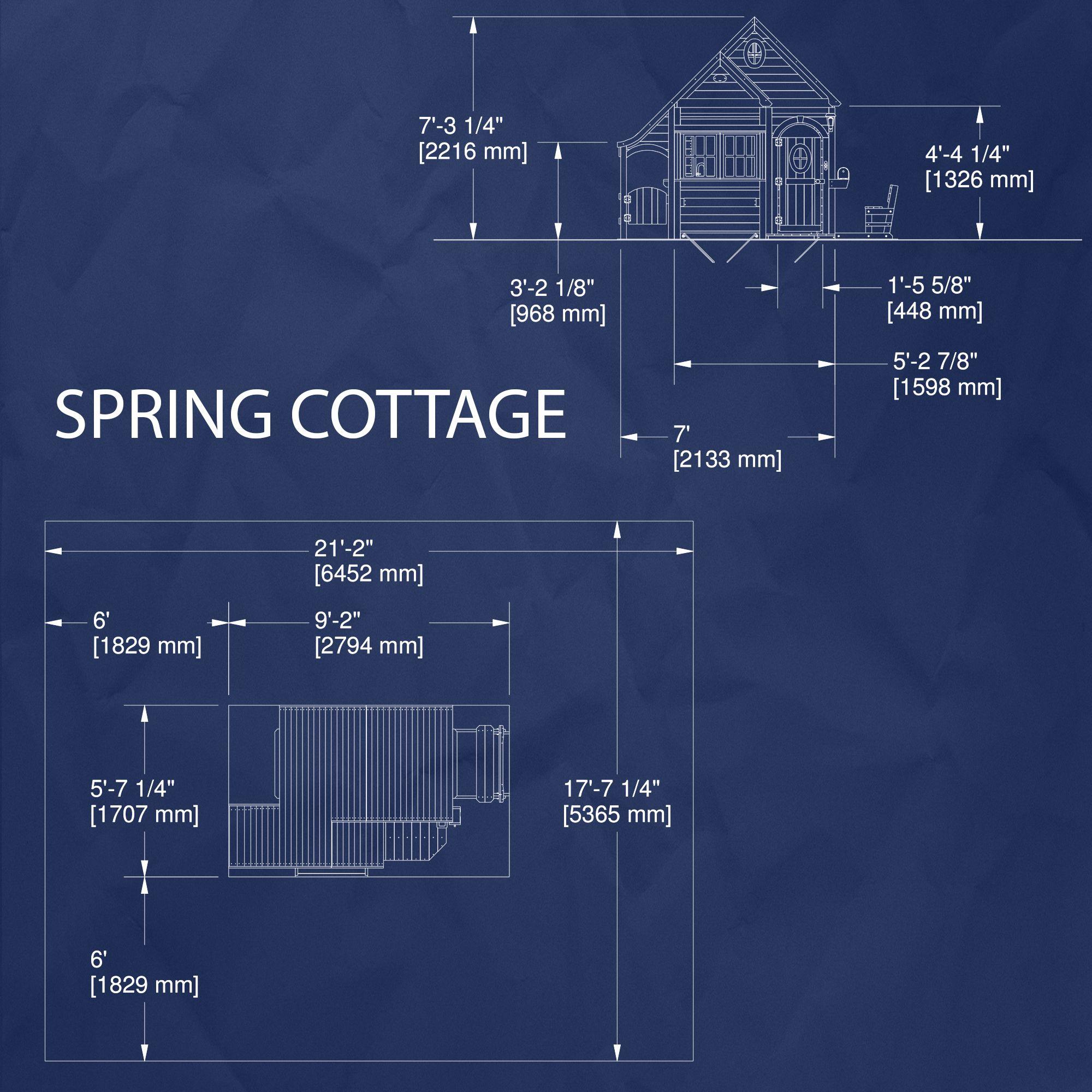 Backyard Discovery Spring Cottage Cedar Playhouse w/ Bench ...