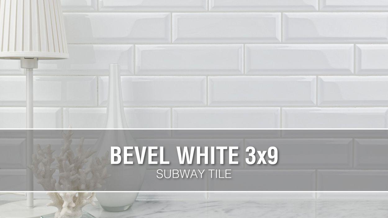 - Boutique Ceramic Boutique White 3-in X 9-in Glazed Ceramic Subway