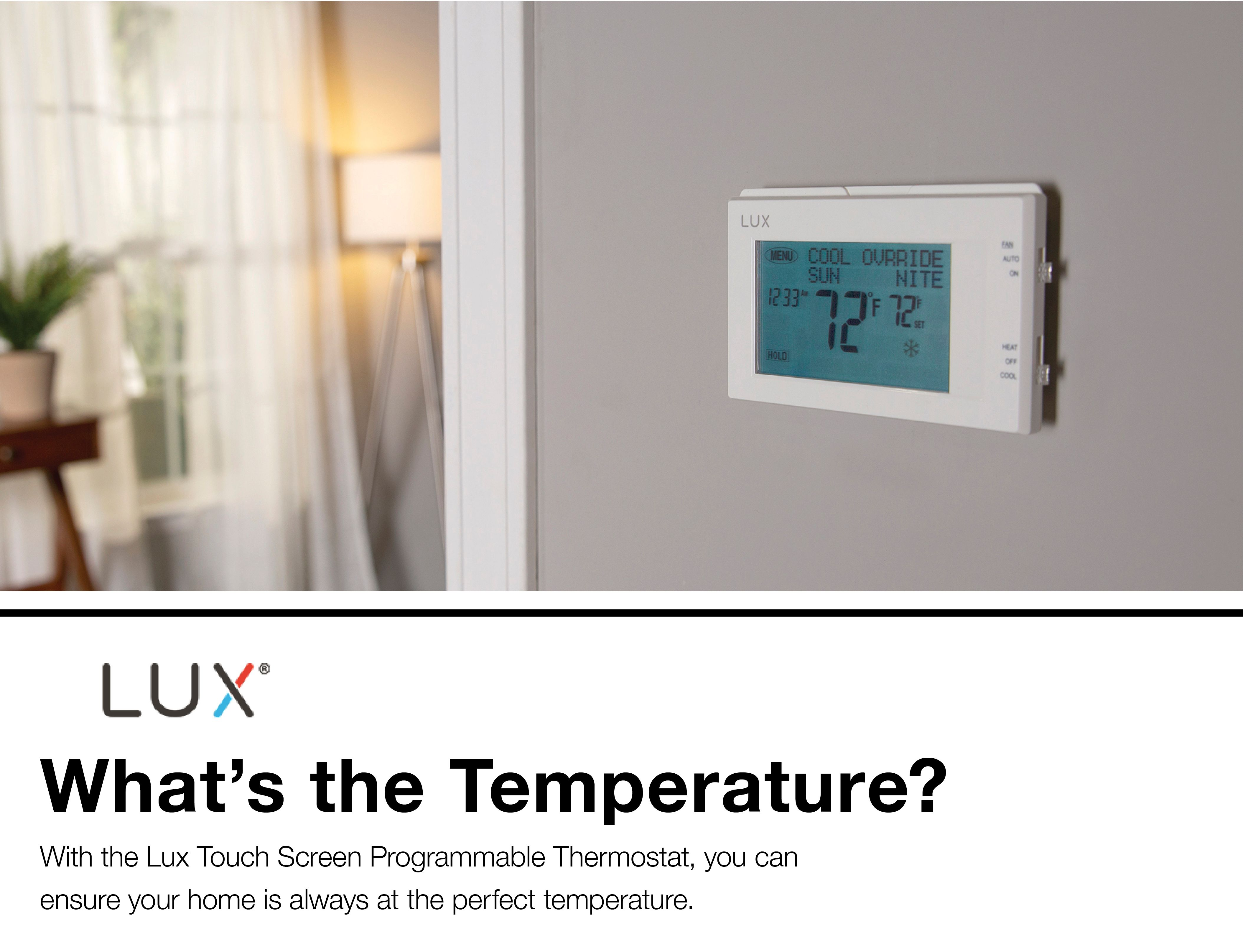 Lux 7-day Touch Screen Programmable Thermostat at Lowes com