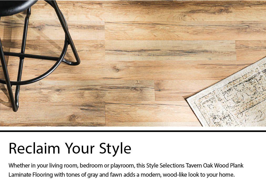 Style Selections Tavern Oak 7 59 In W X