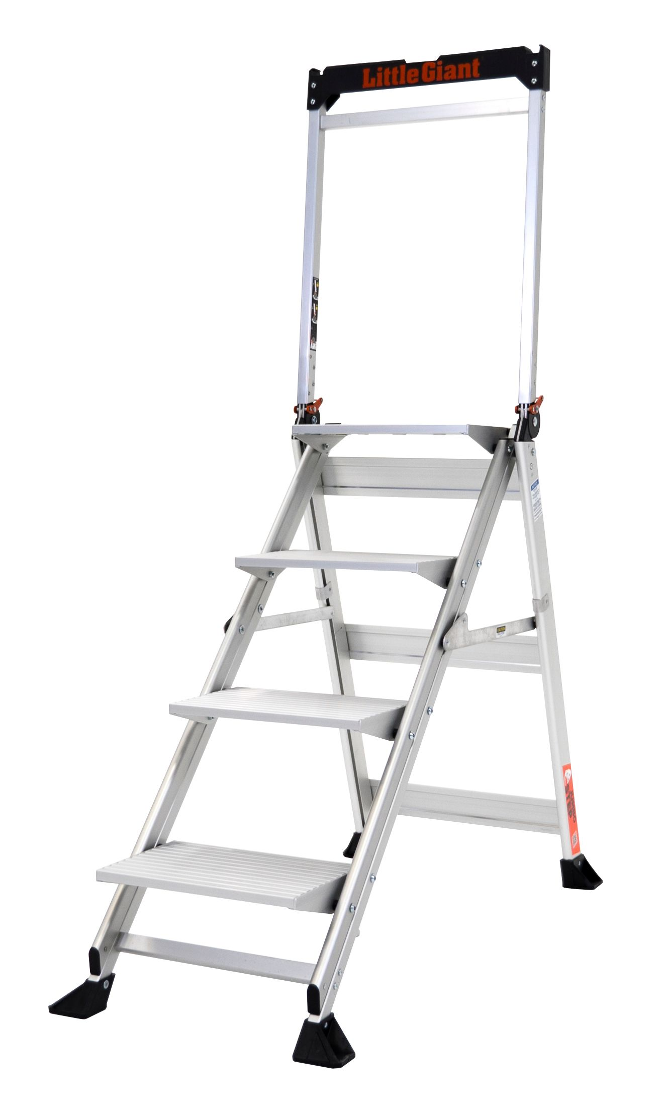 Admirable Little Giant Ladders 4 Step 375 Lbs Capacity Silver Machost Co Dining Chair Design Ideas Machostcouk