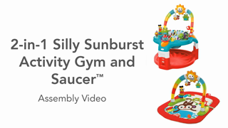 6842d7eb4 Bright Starts 2-in-1 Silly Sunburst Activity Gym   Saucer - Walmart.com