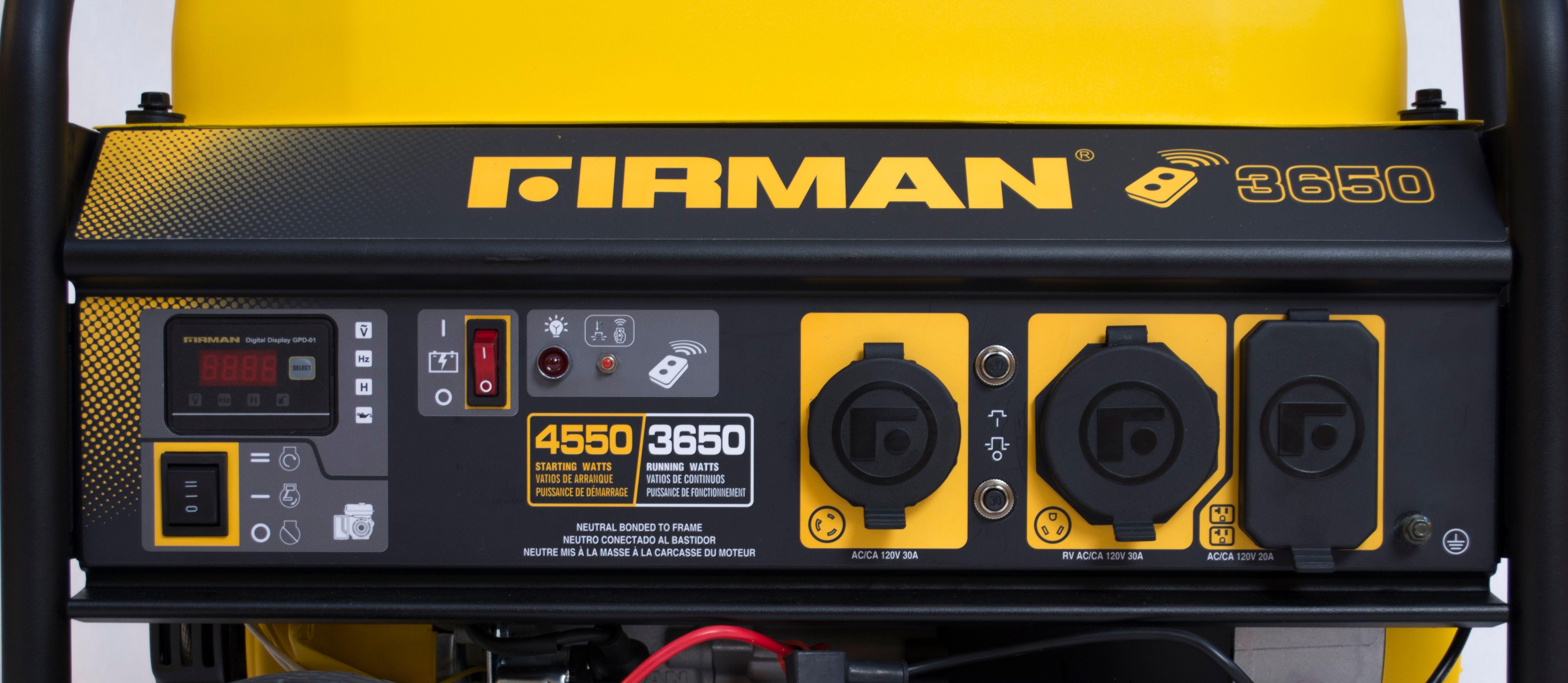Firman 3650W Running / 4500W Peak Gasoline Powered Generator with Remote  Start